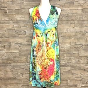 Cristinalove multicolour halter sundress